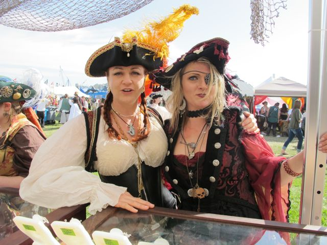 pirate women at the Marty Magic Booth