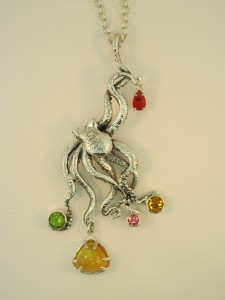 octopus pendant with jewels