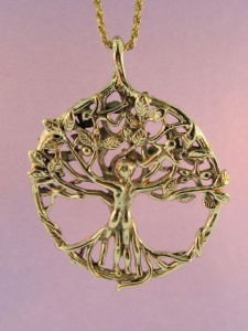 Gold Circle of Life Tree Pendant designed by Marty