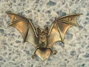 Bronze Bat Drawer Pull