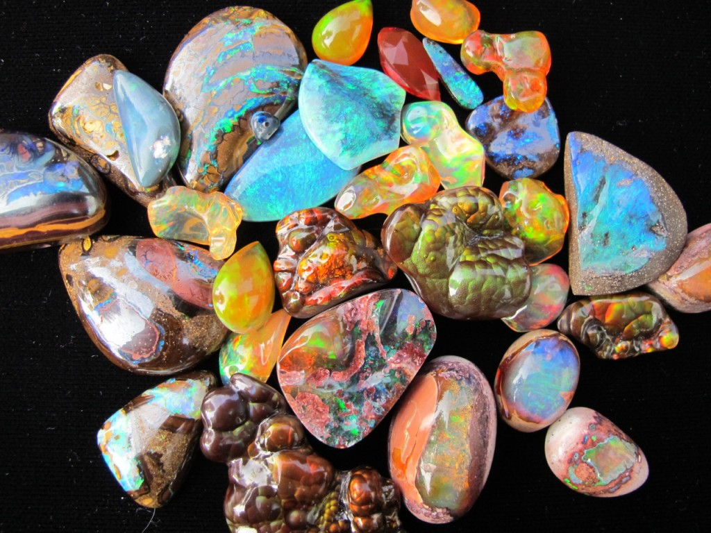 Mexican and Australian Opals
