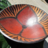 Zimbabwe Bowl with Abstract Flower Design