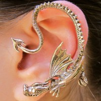 Bronze Throne Dragon Ear Wrap