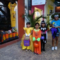 Children dressed for Halloween