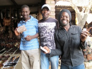 Young men at the Victoria Falls Crafts Market