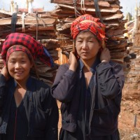 Girls with firewood, Inle Lake, Myanmar