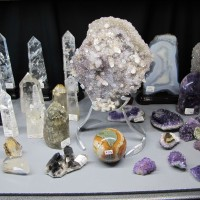 Crystal Display - Tucson Gem and Mineral Show