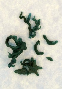 Ouch! Broken pieces of wax. Poseidon's Gift Ear Cuff