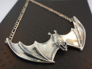 Large Spread Winged Bat Pendant