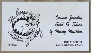 Early Marty Macklin business card