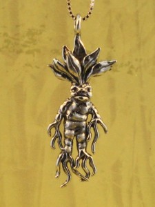 Sterling Silver Mandrake Root Charm