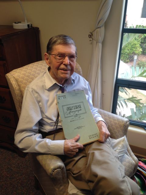 My father John C. Crowell at 97 years old with the Neptune Monograph