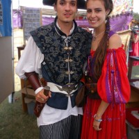 What a swashbuckling couple!