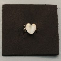 Angel Heart Ear Cuff on leather