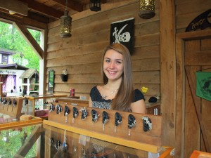 Leah, tending the Marty Magic Ear Cuff Display