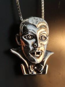 Dracula Pendant, Sterling Silver