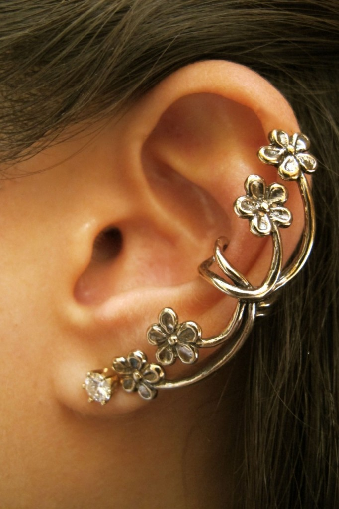 Marty Magic Photo of Bronze Forget Me Not Ear Cuff