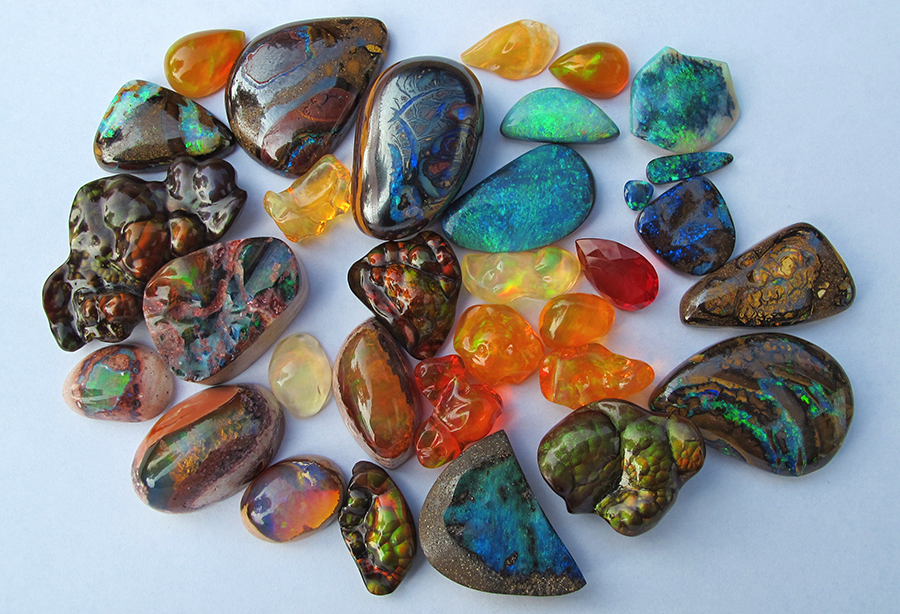 The current state of Marty's Opal and Fire Agate Collection