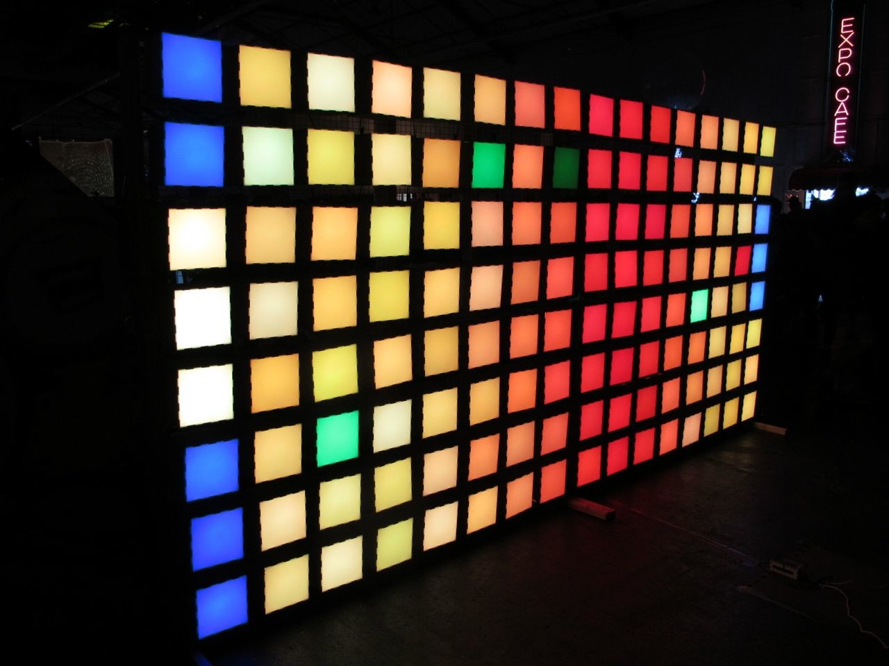 Glowing Grid