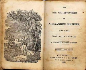 Title Page, Robinson Crusoe by Alexander Selkirk