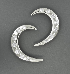 Crescent Moon Ear Wrap with CZ's