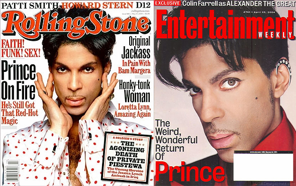 Prince Entertainment Weekly and Rolling Stones Magazine