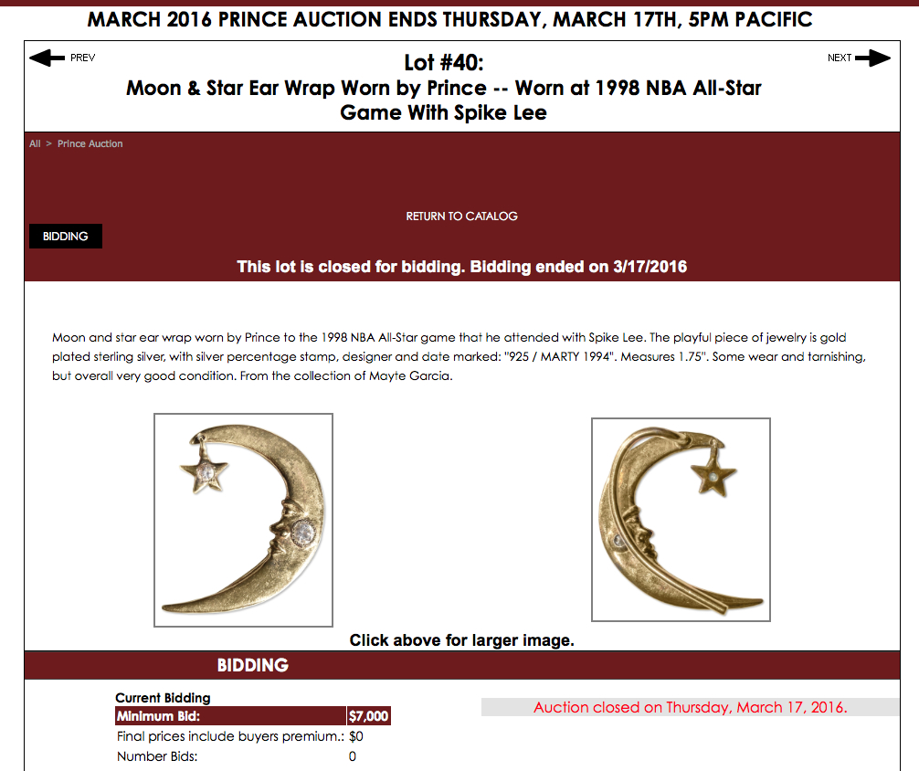 Screen Shot Moon Ear Wrap Prince Auction