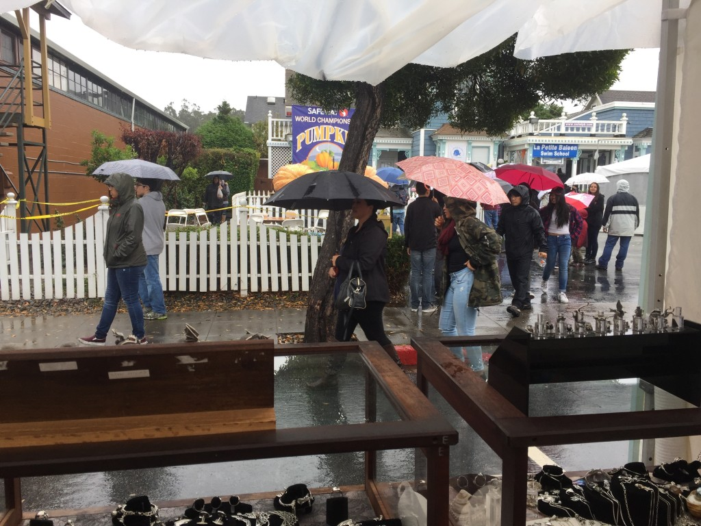 Rainy Day Shoppers, Half Moon Bay Pumpkin Festival