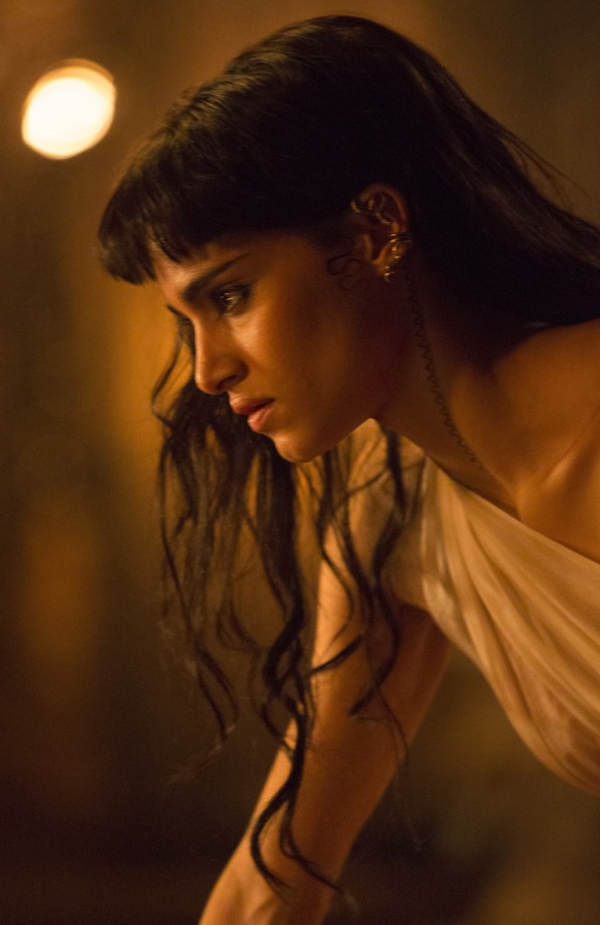 Sofia Boutella, wearing Marty Magic Python Ear Wrap