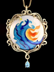 Fire and Water Cloisonne