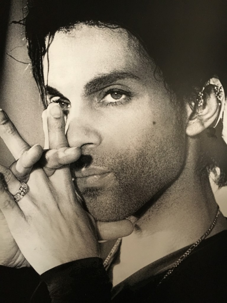 Prince wearing my Moon Ear Wrap, Photo by Steve Parke