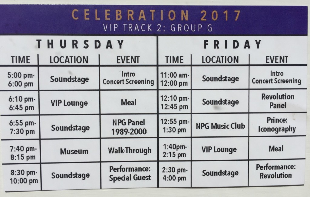 CelebrationSchedule:Thurs:Friday