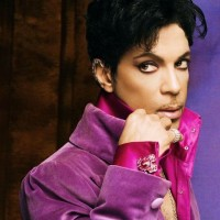 Prince in Purple wearing the Crescent Ear Wrap with CZ's - photo by Steve Parke