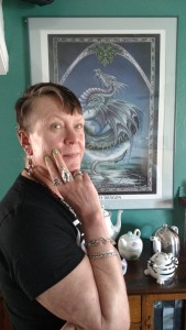 Christian bedecked with Marty Magic Dragon Jewelry