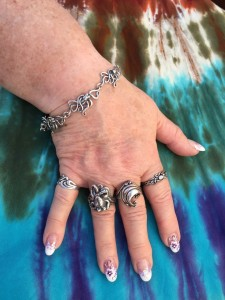 An Ocean of Rings on her Fingers Judy