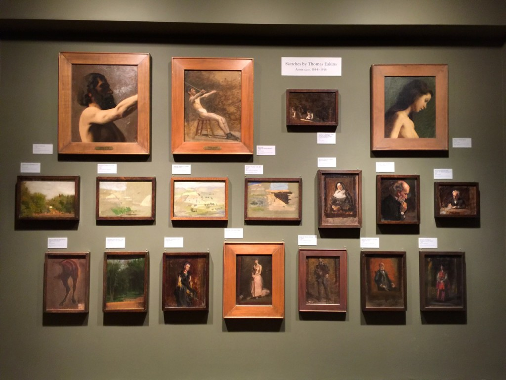 Wall of Thomas Eakins Paintings, Philadelphia Museum of Art