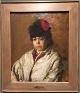 Margaret in Skating Costume, Thomas Eakins' sister