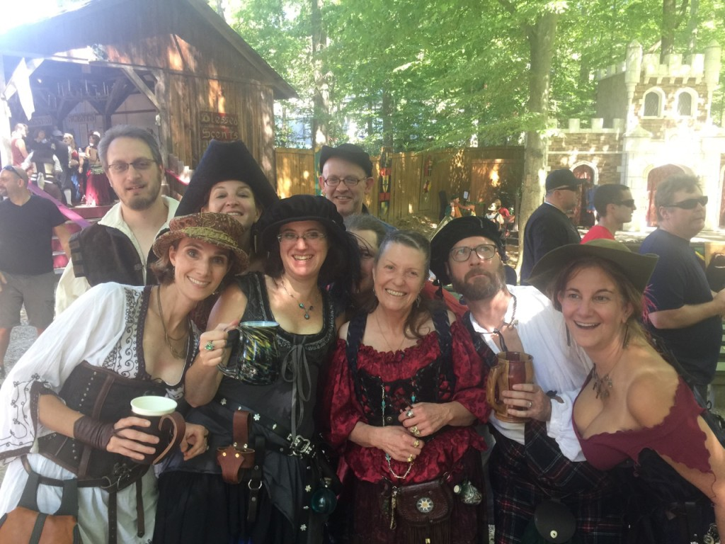 Marty and friends at the Maryland Renaissance Festival