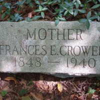 Frances E. Crowell's grave at the Avondale farm