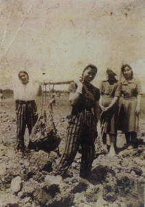 Art's mother Wako during the war, Okinawa